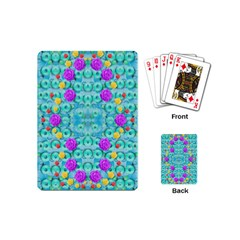 Season For Roses And Polka Dots Playing Cards (mini)  by pepitasart