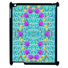 Season For Roses And Polka Dots Apple Ipad 2 Case (black) by pepitasart