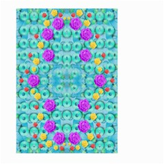 Season For Roses And Polka Dots Large Garden Flag (two Sides) by pepitasart