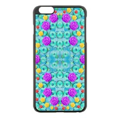 Season For Roses And Polka Dots Apple Iphone 6 Plus/6s Plus Black Enamel Case by pepitasart