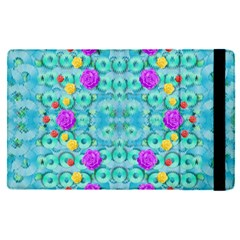 Season For Roses And Polka Dots Apple Ipad Pro 9 7   Flip Case