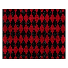 Diamond1 Black Marble & Red Leather Rectangular Jigsaw Puzzl by trendistuff