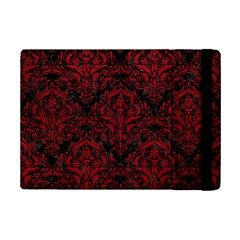 Damask1 Black Marble & Red Leather (r) Ipad Mini 2 Flip Cases by trendistuff