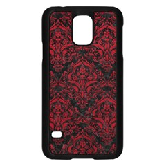Damask1 Black Marble & Red Leather (r) Samsung Galaxy S5 Case (black) by trendistuff