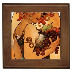 Alfons Mucha   Fruit Framed Tiles by 8fugoso