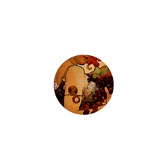 Alfons Mucha   Fruit 1  Mini Buttons by 8fugoso