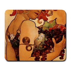 Alfons Mucha   Fruit Large Mousepads by 8fugoso