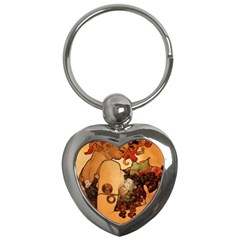 Alfons Mucha   Fruit Key Chains (heart)  by 8fugoso