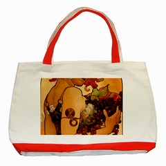 Alfons Mucha   Fruit Classic Tote Bag (red) by 8fugoso