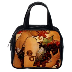 Alfons Mucha   Fruit Classic Handbags (one Side) by 8fugoso