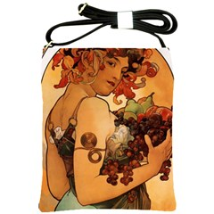 Alfons Mucha   Fruit Shoulder Sling Bags by 8fugoso
