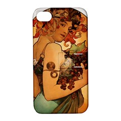 Alfons Mucha   Fruit Apple Iphone 4/4s Hardshell Case With Stand by 8fugoso