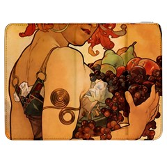 Alfons Mucha   Fruit Samsung Galaxy Tab 7  P1000 Flip Case by 8fugoso
