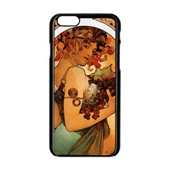Alfons Mucha   Fruit Apple Iphone 6/6s Black Enamel Case by 8fugoso