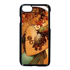 Alfons Mucha   Fruit Apple Iphone 7 Seamless Case (black) by 8fugoso
