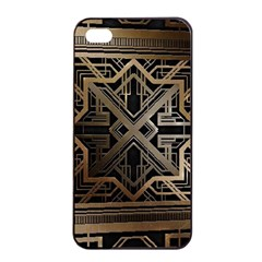 Gold Metallic And Black Art Deco Apple Iphone 4/4s Seamless Case (black) by 8fugoso