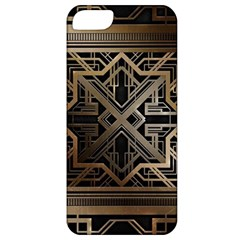 Gold Metallic And Black Art Deco Apple Iphone 5 Classic Hardshell Case by 8fugoso