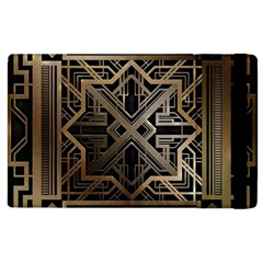 Gold Metallic And Black Art Deco Apple Ipad 3/4 Flip Case by 8fugoso