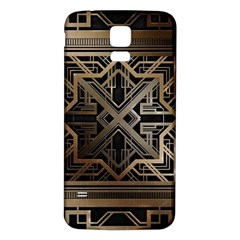 Gold Metallic And Black Art Deco Samsung Galaxy S5 Back Case (white) by 8fugoso