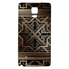 Gold Metallic And Black Art Deco Galaxy Note 4 Back Case by 8fugoso