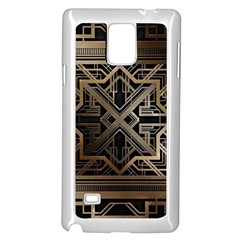 Gold Metallic And Black Art Deco Samsung Galaxy Note 4 Case (white) by 8fugoso