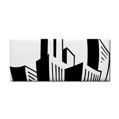 Tower City Town Building Black White Cosmetic Storage Cases
