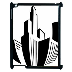 Tower City Town Building Black White Apple Ipad 2 Case (black)