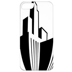 Tower City Town Building Black White Apple Iphone 5 Classic Hardshell Case by Jojostore