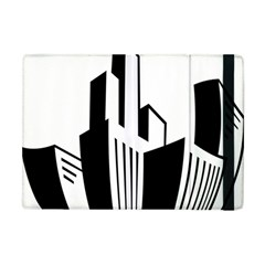 Tower City Town Building Black White Apple Ipad Mini Flip Case by Jojostore