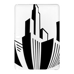 Tower City Town Building Black White Samsung Galaxy Tab Pro 10 1 Hardshell Case by Jojostore