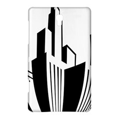 Tower City Town Building Black White Samsung Galaxy Tab S (8 4 ) Hardshell Case  by Jojostore
