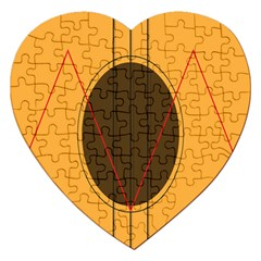 Guitar Picking Tool Line Tone Music Jigsaw Puzzle (heart) by Jojostore