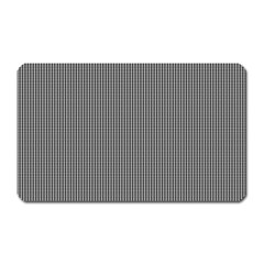 Black Polka Dots Line Plaid Magnet (rectangular) by Jojostore