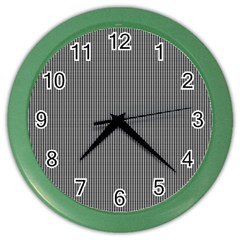 Black Polka Dots Line Plaid Color Wall Clocks by Jojostore