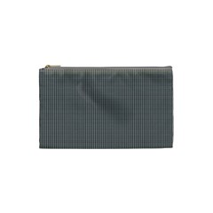 Black Polka Dots Line Plaid Cosmetic Bag (small)  by Jojostore