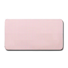 Red Line Plaid Vertical Horizon Medium Bar Mats by Jojostore