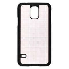 Red Line Plaid Vertical Horizon Samsung Galaxy S5 Case (black) by Jojostore