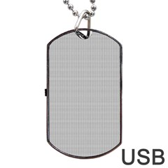 Grey Black Line Polka Dots Dog Tag Usb Flash (one Side)