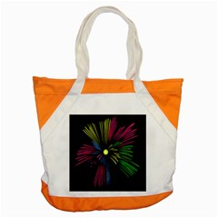 Fireworks Pink Red Yellow Green Black Sky Happy New Year Accent Tote Bag