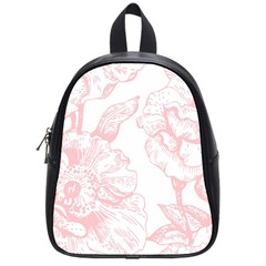 Vintage Pink Floral School Bag (small) by 8fugoso