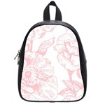 vintage pink floral School Bag (Small) Front