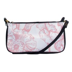 Vintage Pink Floral Shoulder Clutch Bags by 8fugoso