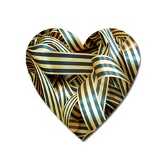 Ribbons Black Yellow Heart Magnet by Jojostore