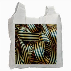 Ribbons Black Yellow Recycle Bag (one Side)