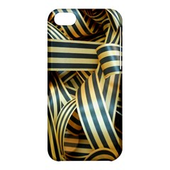 Ribbons Black Yellow Apple Iphone 5c Hardshell Case by Jojostore