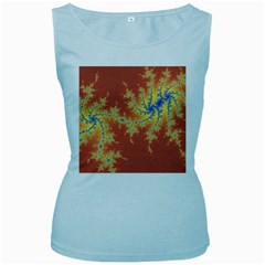 Fractals Women s Baby Blue Tank Top by 8fugoso