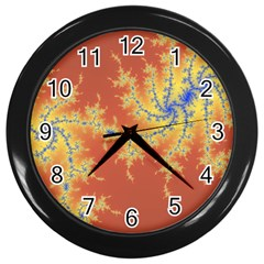 Fractals Wall Clocks (black) by 8fugoso