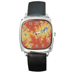 Fractals Square Metal Watch by 8fugoso
