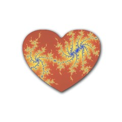 Fractals Heart Coaster (4 Pack)  by 8fugoso
