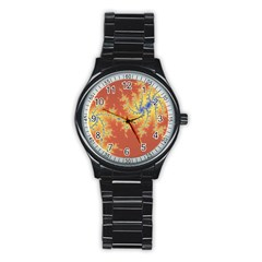 Fractals Stainless Steel Round Watch by 8fugoso
